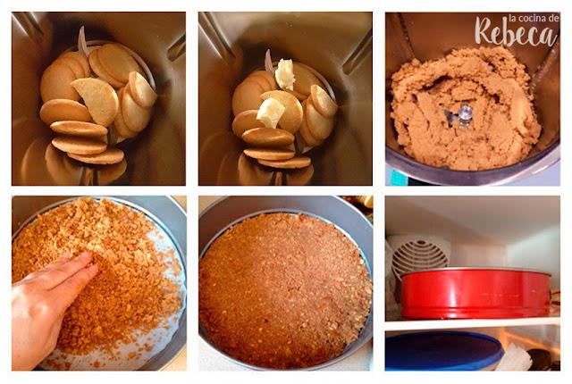 Receta de tarta fría de queso y limón: la base
