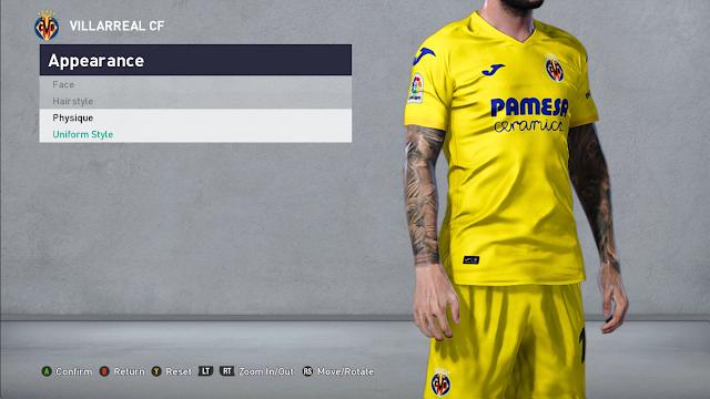 PES 2021 Paco Alcacer Face (Villarreal)