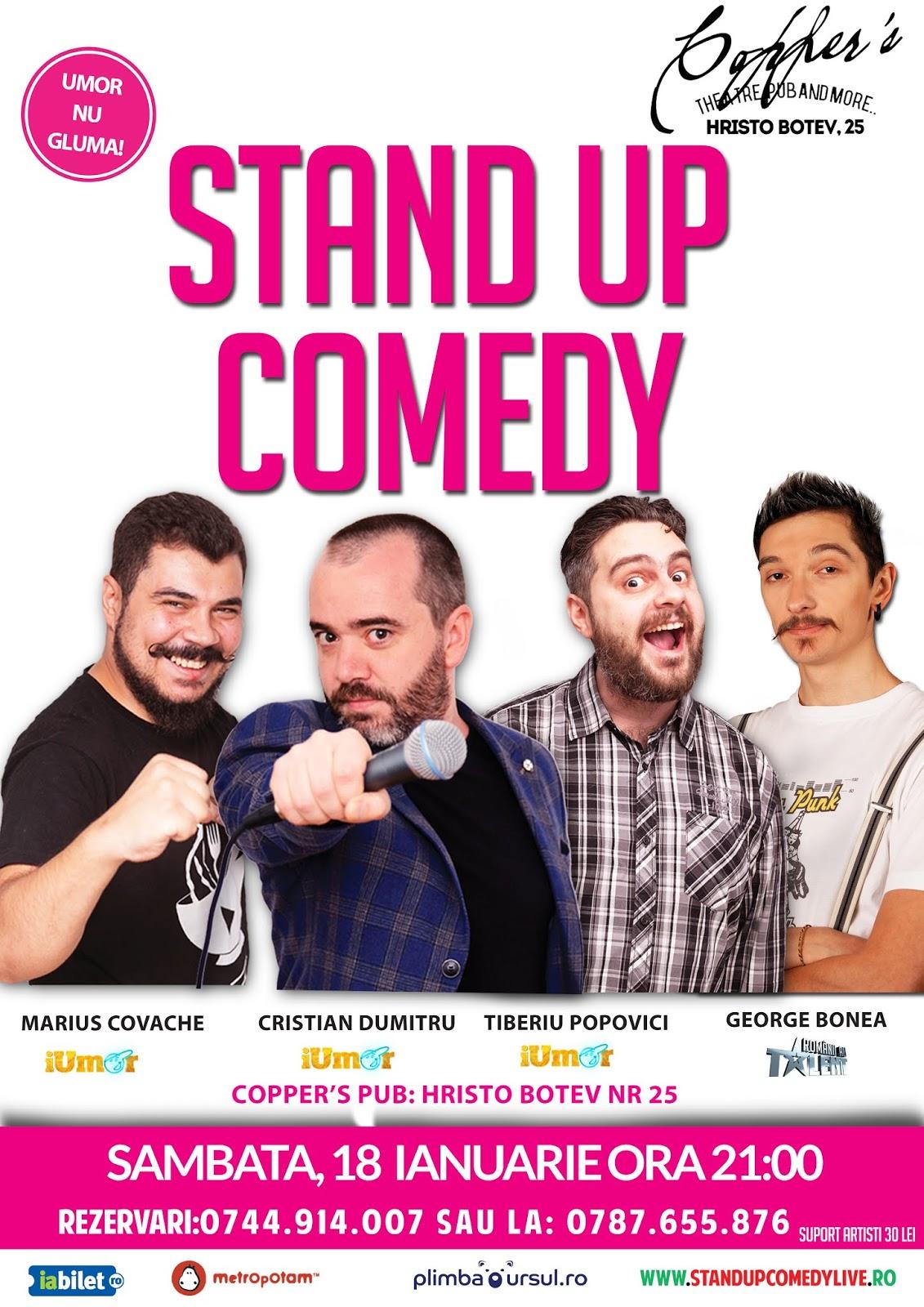 Stand-Up Comedy 18 ianuarie Bucuresti