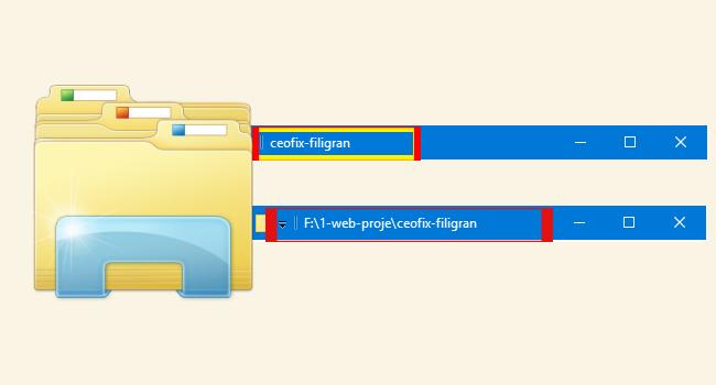 Windows 10'da Dosya ve Klasörlerin Tam Yolunu Göster-www.ceofix.com