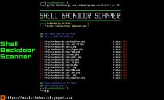 Cara mencari shell backdoor di web