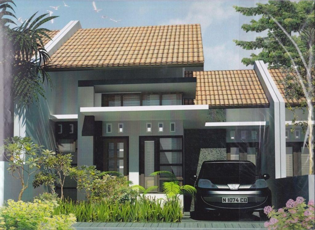gambar rumah tropis modern 1 lantai idaman