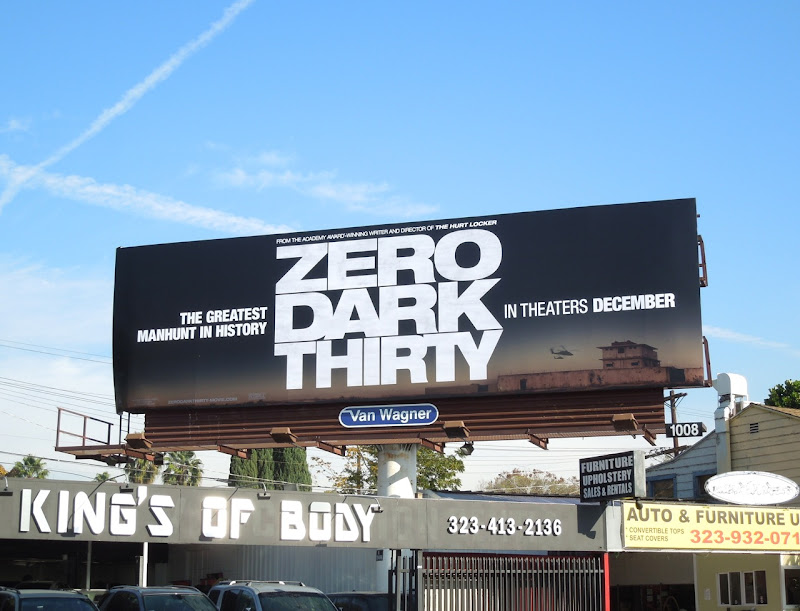 Zero Dark Thirty movie billboard