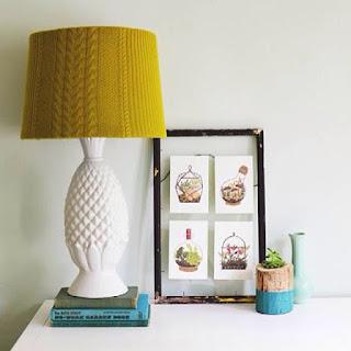 personalizzare lampada riciclando maglione vecchio