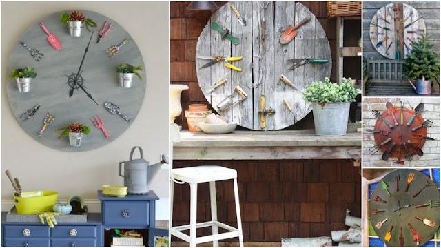 Ένα DIY Ρολόϊ στον ...κήπο σας