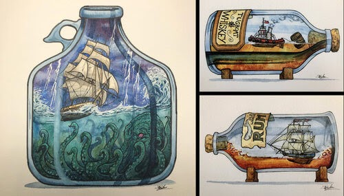 00-Jon-Guerdrum-Ship-in-a-Bottle-Drawings-and-Paintings-www-designstack-co