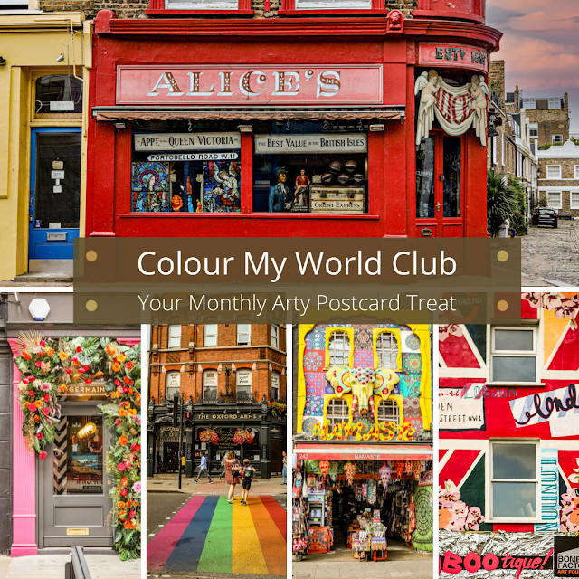 Colour my world club, a monthly art card subscription from mandy charlton, photographer and artist
