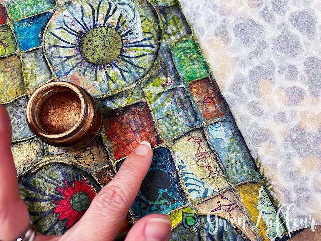 Textural Art Journaling with Stencils - Tutorial Step 10 - Gwen Lafleur