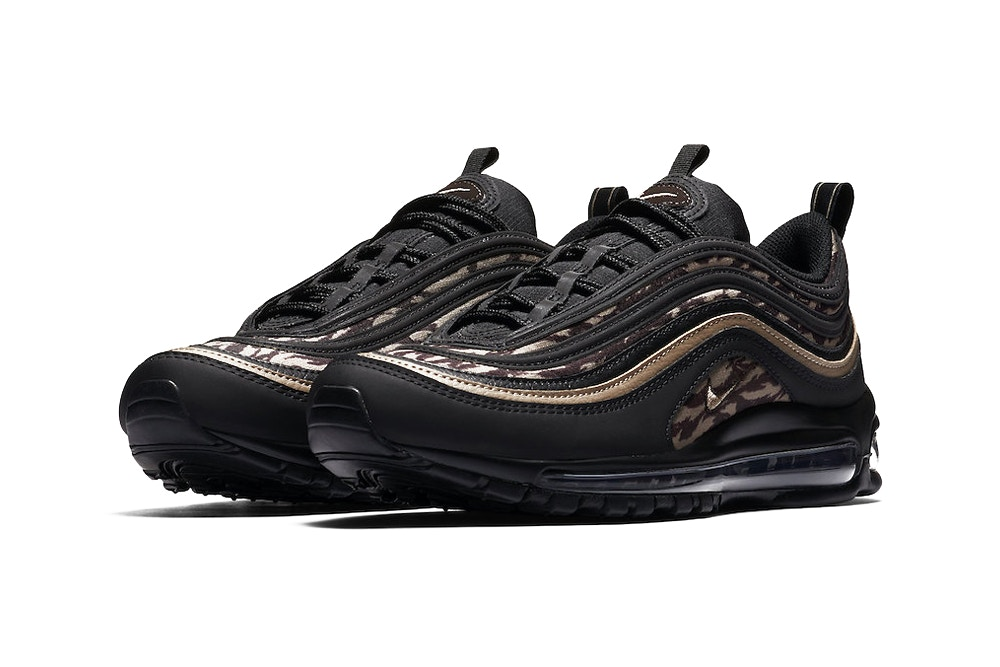 """wholesale dealer e1376 f57b4 Although release info still has yet to be confirmed, you can expect the Nike  Air Max 97 """"Tiger Camo"""" pack to arrive sometime later this year."""