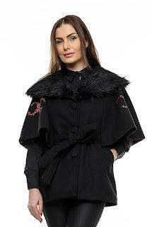 Jacheta cu guler de blana – Ama Fashion