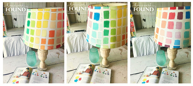 art, art class, color, color palettes, decorating, diy decorating, DIY, Instagram, just for fun, lampshades, lighting, makeover, spring, creative spaces, paint palettes, painted home decor, lampshades, office decor, ROYGBIV