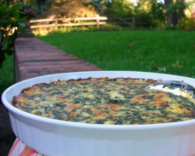 Spinach Casserole ♥ AVeggieVenture.com, an old family recipe, the casserole for people who don't like vegetables. Low Carb. WW8 PointsPlus. Rave reviews!