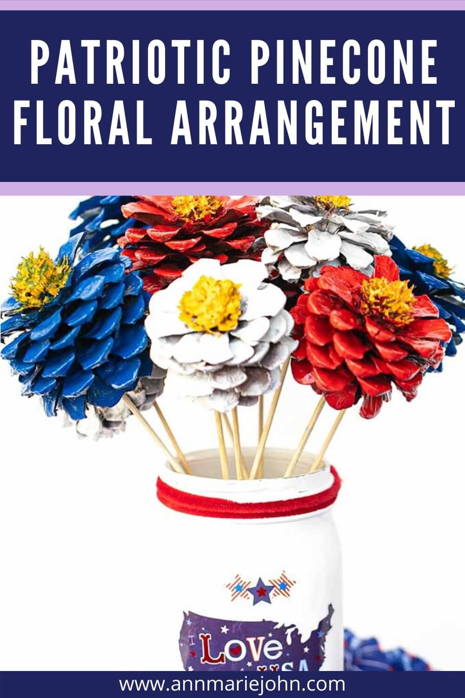 Patriotic Pinecone Floral Arrangement