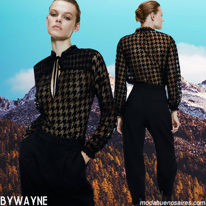 Camisas con transparencias otoño invierno 2020 moda mujer. Moda invierno 2020.