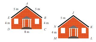dua gambar rumah tampak dari depan