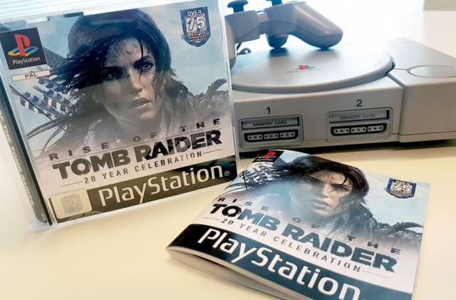 Rise Of The Tomb Raider llega con esta caja basada en PSX por su 20 aniversario