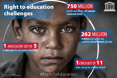 still 750 Million students cannot read and write according to UNICEF
