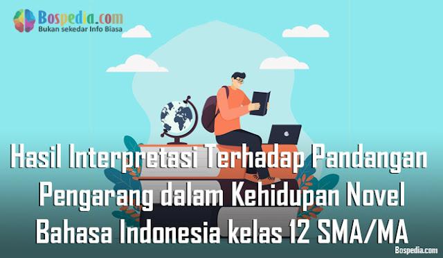 Materi Hasil Interpretasi Terhadap Pandangan Pengarang dalam Kehidupan Novel Mapel Bahasa Indonesia kelas 12 SMA/MA
