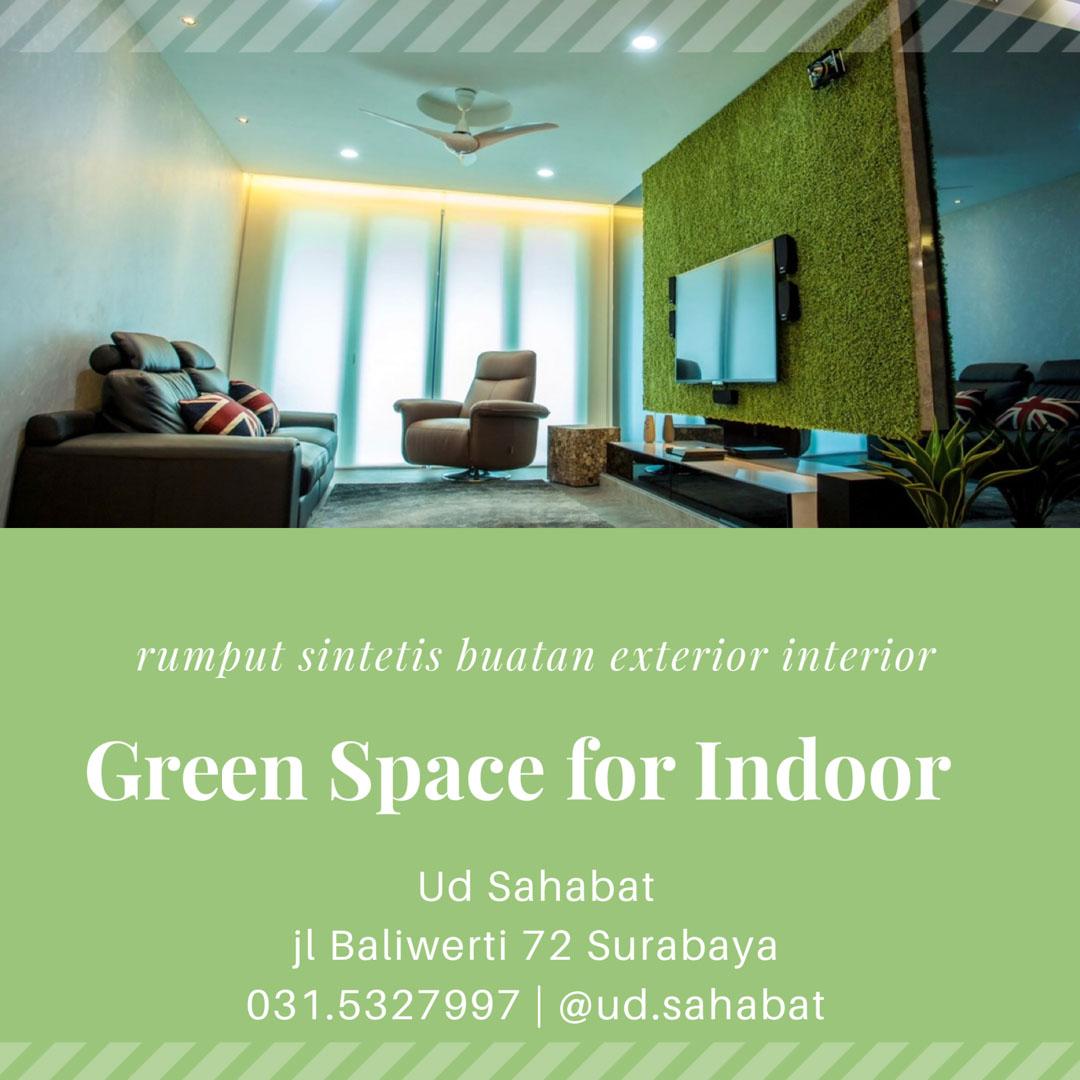 jual taman vertikal indoor rumput buatan surabaya UD SAHABAT