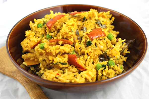 Indian Rice with Roasted Pumpkin