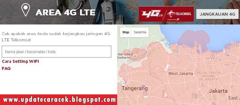 gambar cara cek jaringan 4G telkomsel