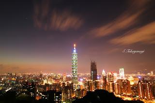 台湾旅行 象山登山 展望台からの眺め 夜景