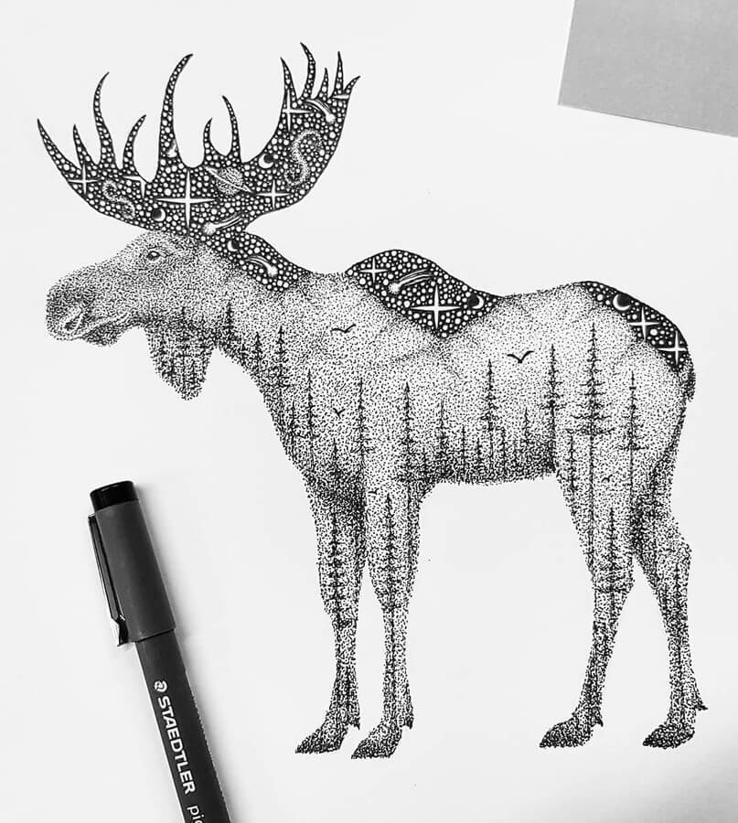 08-Double-exposure-moose-Tobias-www-designstack-co