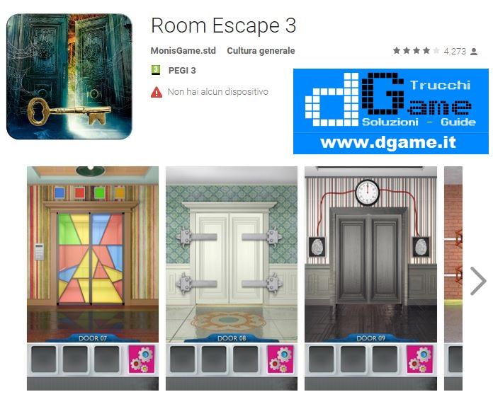 Soluzioni room escape 3 livello 1 2 3 4 5 6 7 8 9 10 for Small room escape 6 walkthrough