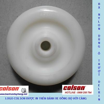Bánh xe Nylon 6 càng inox 304 cố định phi 125 Colson | 2-5408-254 banhxepu.net
