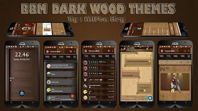 BBM Mod Dark Wood Themes v2.1.0 based BBM Official v3.3.0.16 Apk