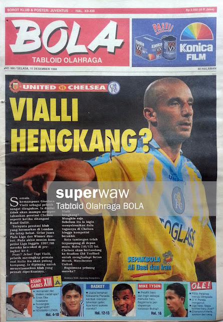 Tabloid BOLA: VIALLI HENGKANG
