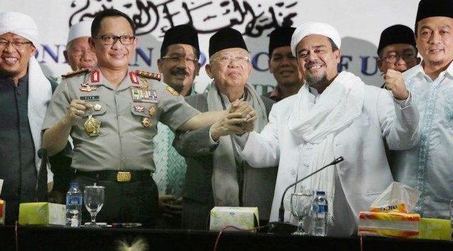 FPI Klaim Pertemuan Habib Rizieq-Wapres Sudah Dekat, tapi Jubir Kiai Ma'ruf Membantah