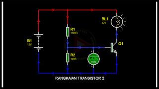 Transistor dengan pembagi tegangan