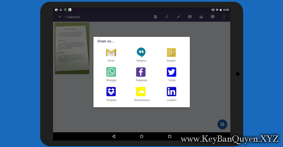 CamScanner Phone PDF Creator 5.5.0 Actived Full, Phần mềm hỗ trợ SCAN,chia sẻ và đồng bộ tài liệu.