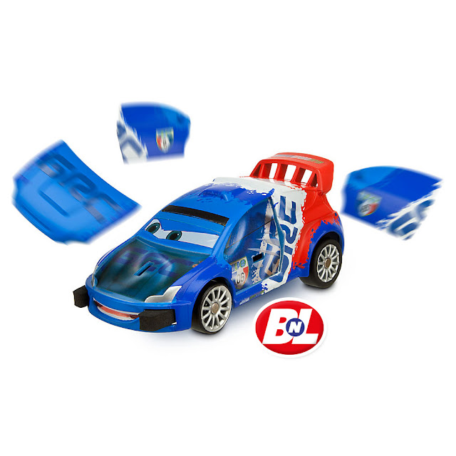 Welcome On Buy N Large Cars 2 Lightning Mcqueen Silver: WELCOME ON BUY N LARGE: Cars 2: Porto Corsa Launching Set