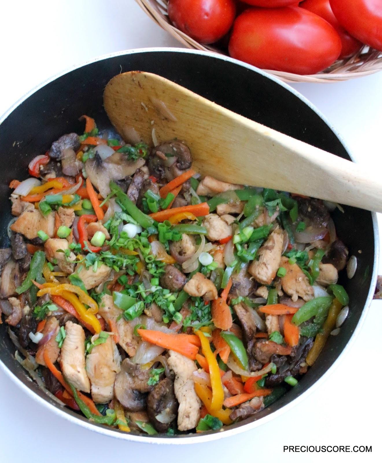 Chicken and Mushroom Stir Fry
