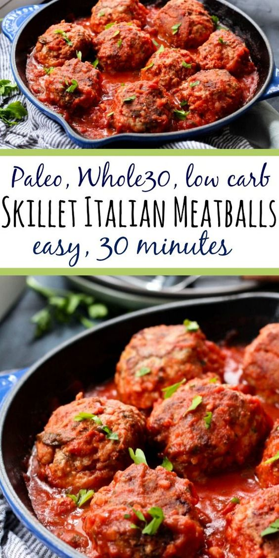 Whole30 Skillet Italian Meatballs: Easy, Paleo, Low Carb