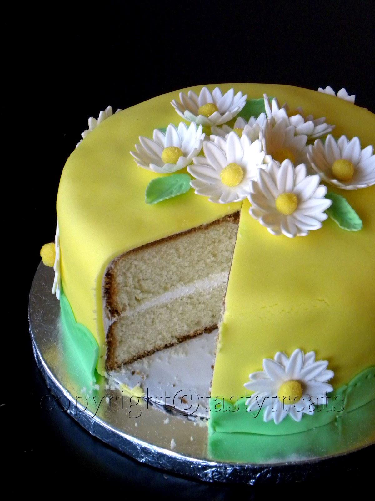 Tasty Treats My First Fondant Cake A Very Moist Yellow