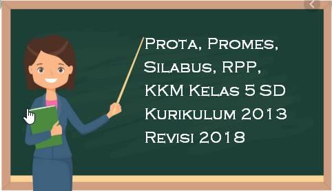 Prota Promes Silabus RPP KKM Kelas 5 SD Kurikulum 2013 Revisi 2018