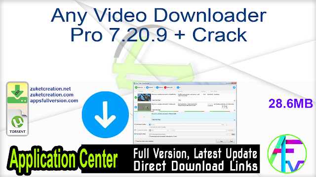 Any Video Downloader Pro 7.20.9 + Crack