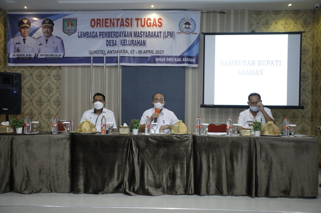 Sebanyak 204 Orang Mengikuti Orientasi Tugas LPM Desa/Kelurahan Yang Digelar Dinas PMD Kabupaten Asahan