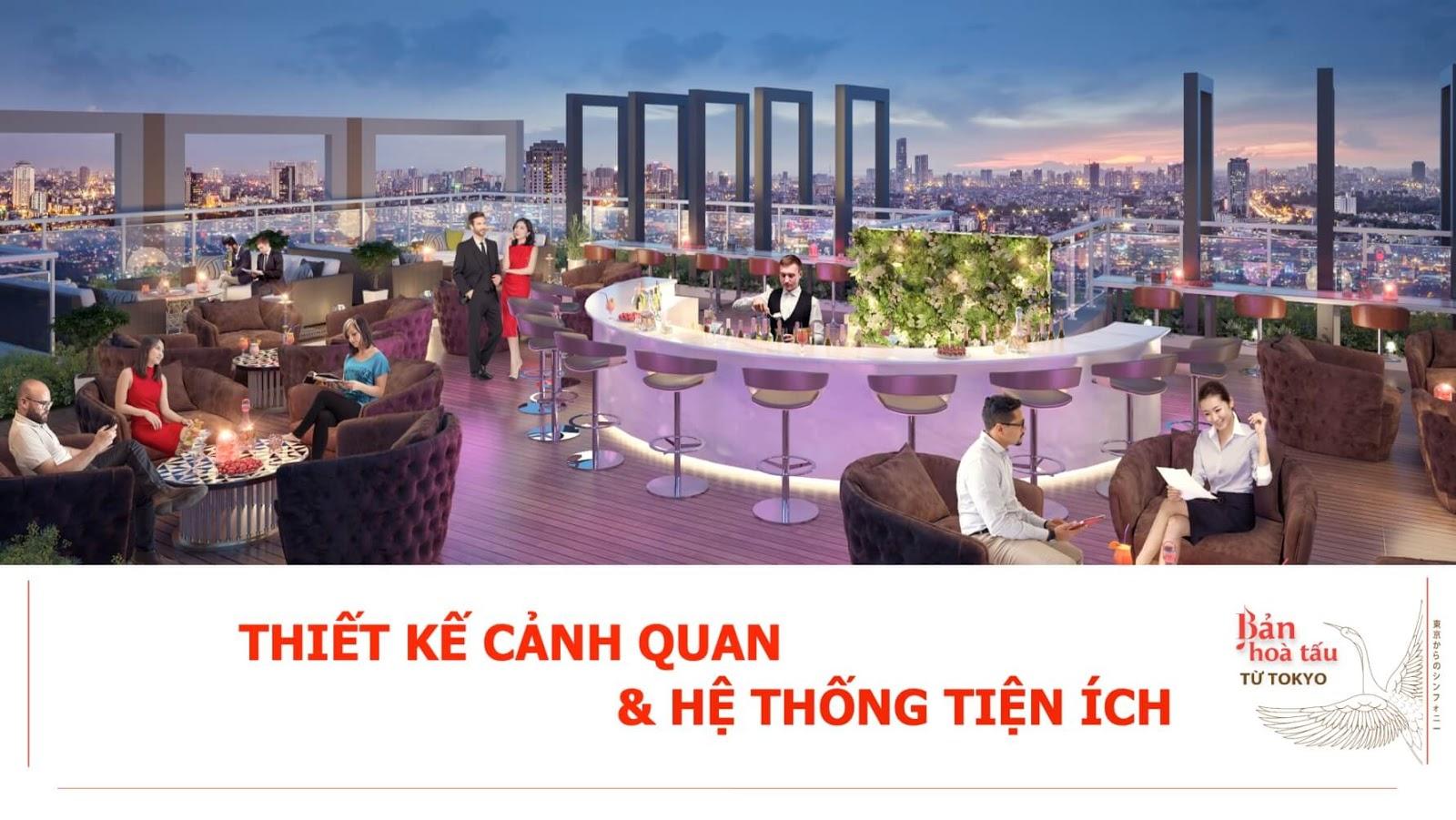 Thiết kế cảnh quan tiện ích tại Hinode City Minh Khai