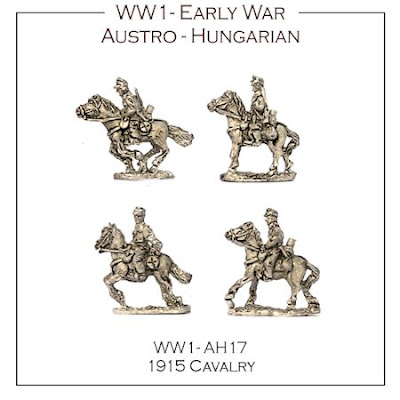 WW1-AH17 Austro-Hungarian 1915 Cavalry - (16 figs + 4 Bases)