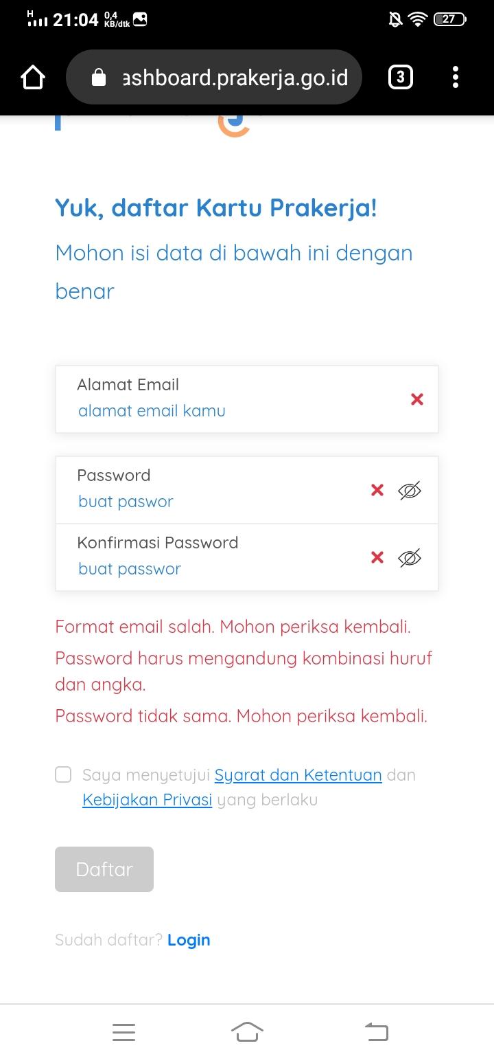 Cara Daftar Kartu Prakerja Hanya 5 Menit Selesai Darisd Com Sumber Informasi Pendidikan Indonesia