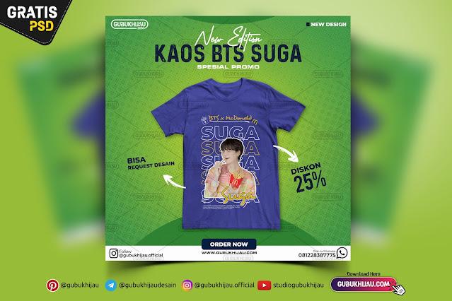Banner Desain Promosi Kaos BTS gubukhijau