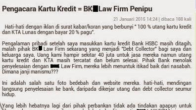 Pihak Law Firm Yang Menjadi Debt Collector