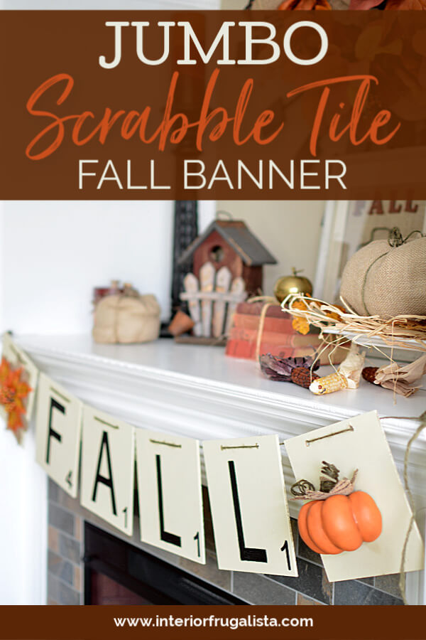 DIY Jumbo Scrabble Tile Fall Banner