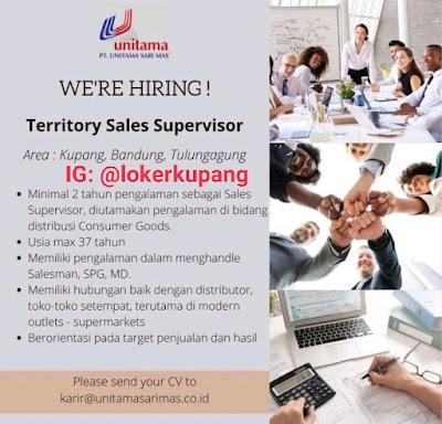 Lowongan Kerja PT. Unitama Sari Mas Sebagai Territory Sales Supervisor