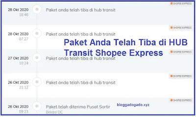 Paket Anda Telah Tiba di Hub Transit