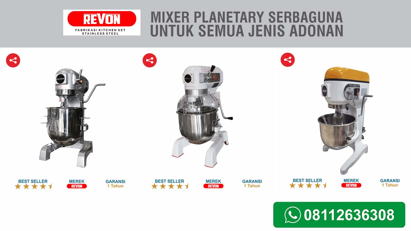 Mixer Plenatry Untuk Adonan Kental, Halus dan Encer